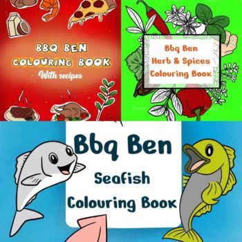 BBQ Childrens Colouring Books